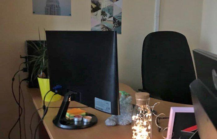 Сотрудники в офисе коронавирус